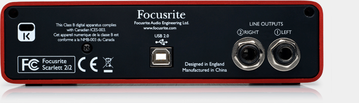 COSTAQ : [FR-S2i2] Scarlett 2i2 :: The 2 in / 2 out USB recording